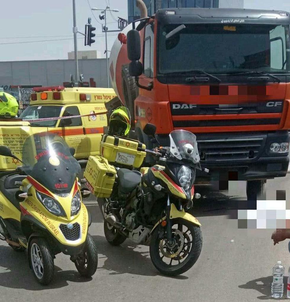 זירת התאונה (צילום: תיעוד מבצעי מד