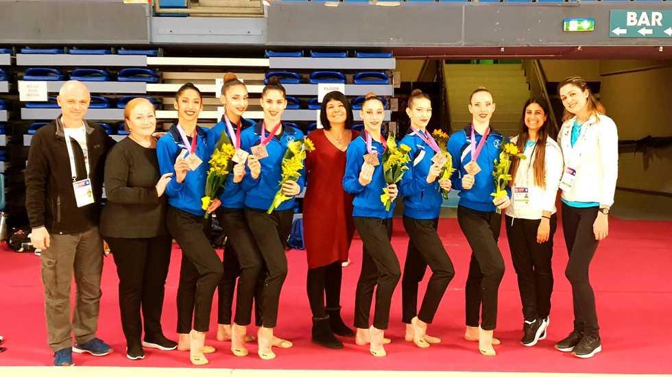 Команда Ирины Вигдорчик. Фото: федерация гимнастики