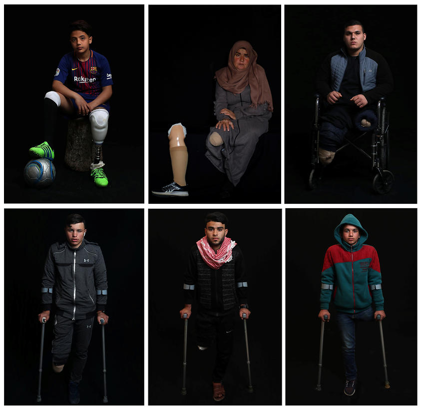 Gazan amputees with their prosthetics (Photo: Reuters)