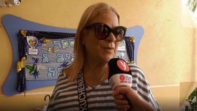 Sylvie: First voting, then the beach (Photo: Shamir Elbaz)