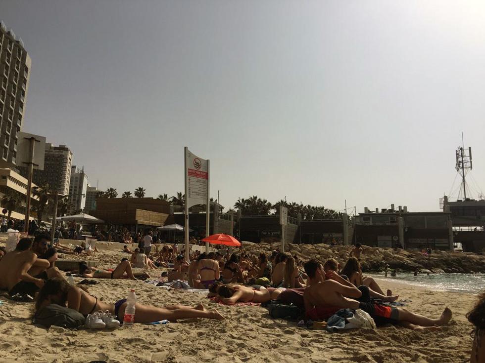 Проголосовали - и на пляж. Фото: Меир Свиса