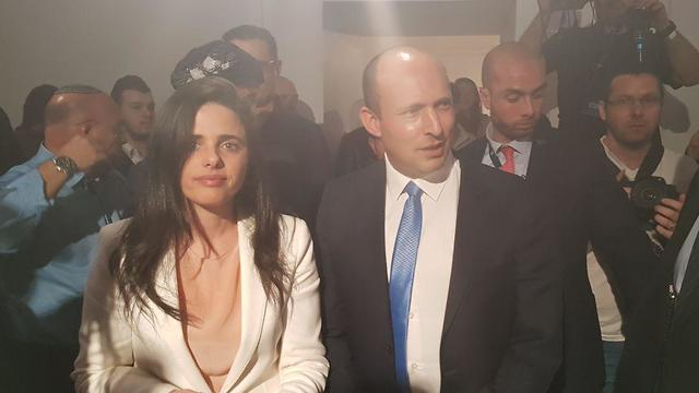 Bennett and Shaked at the New Right headquarters