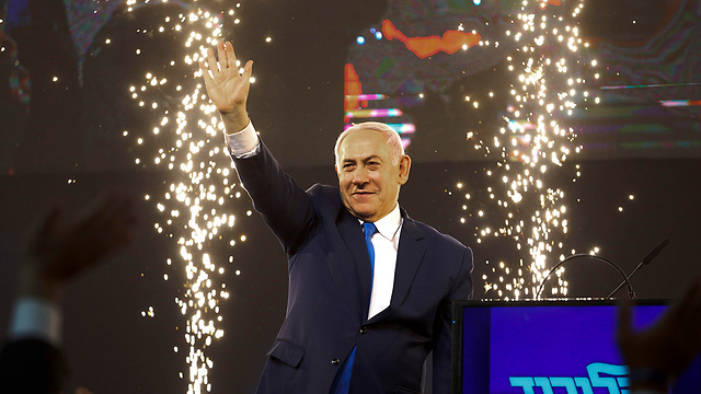 Netanyahu: On his way to a fifth term as prime minister (Photo: AP)