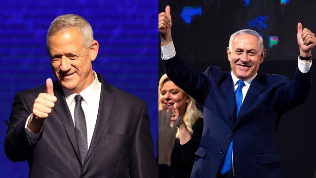 Benny Gantz and Benjamin Netanyahu (Photo: EPA)