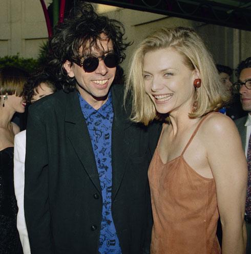 עם טים ברטון, 1992 (צילום: AP)