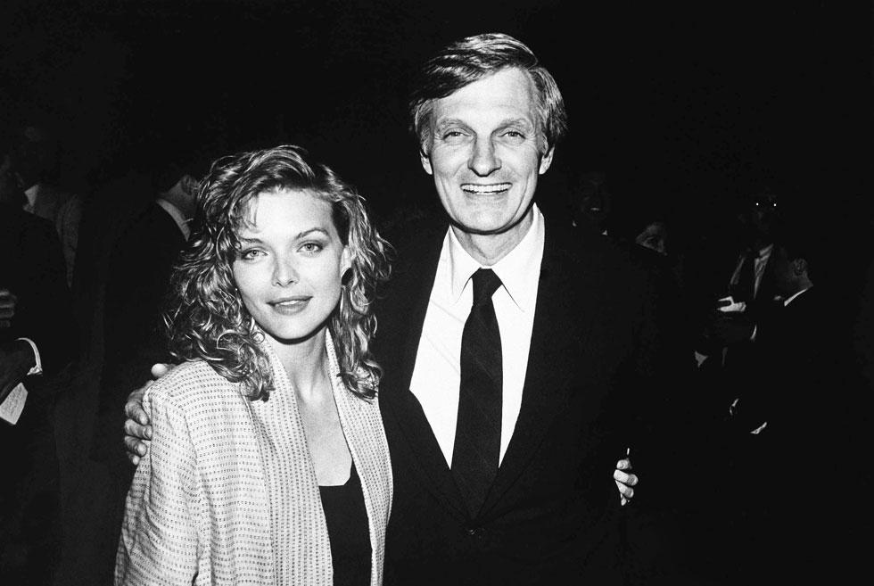 עם אלן אלדה, 1986 (צילום: AP)