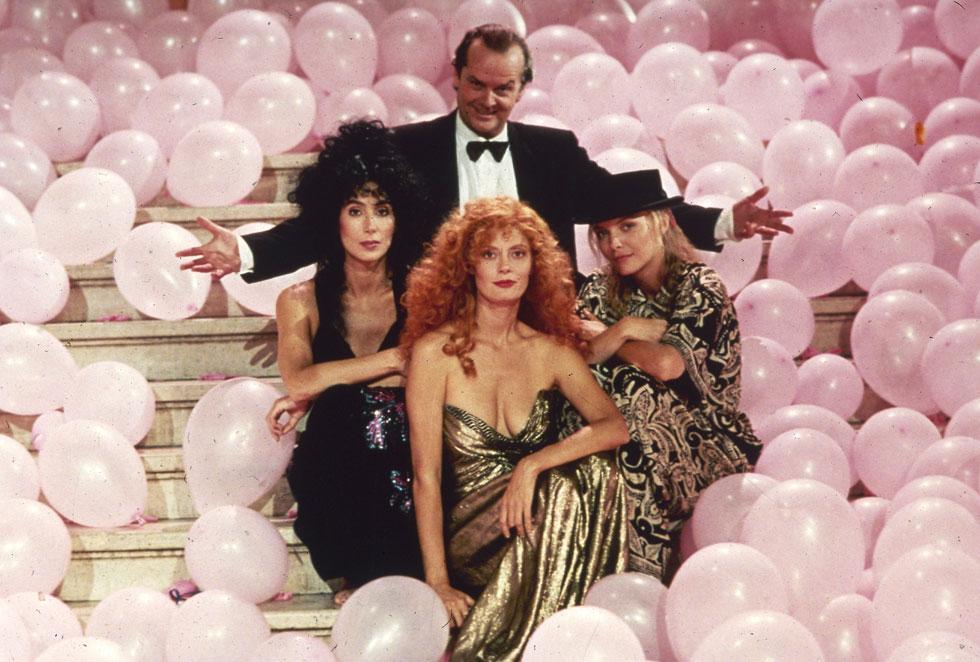 """בסרט """"המכשפות מאיסטוויק"""", 1987 (צילום: AP)"""