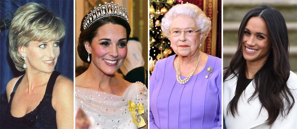 מייגן מרקל, המלכה אליזבת השנייה, קייט מידלטון והנסיכה דיאנה. כל אחת מהן פיתחה סטייל אישי ואיקוני למרות המגבלות (צילום: GettyimagesIL)