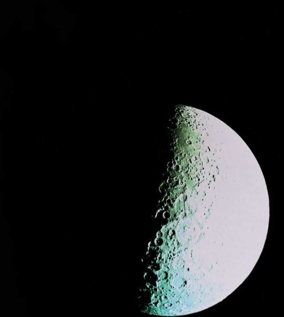 הצד הרחוק של הירח ממרחק של 2,500 ק
