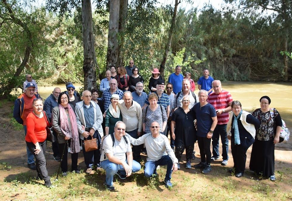 חברי עמותת פרקינסון ישראל בפיעילות בסניף בטבריה (צילום: עמותת פרקינסון בישראל)