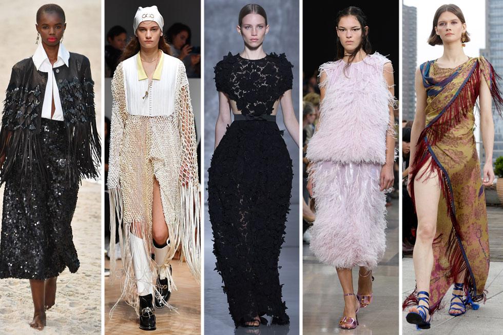 איך לובשים כמה שפחות שכבות, ועדיין יוצרים מראה ייחודי ומקורי? אוסקר דה לה רנטה, רושאס, ז'יבנשי, ג'יי וו אנדרסון ושאנל (צילום: AP, Jeff Spicer, Pascal Le Segretain/GettyimagesIL)