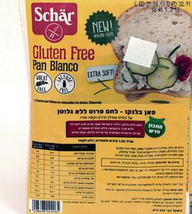 Pan Blanco, לחם פרוס ללא גלוטן, על בסיס עמילן תירס וקמח אורז, של Schar