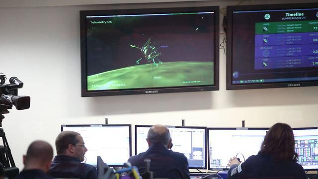 חדר הבקרה של התעשייה האווירית לצפייה בנחתית חללית