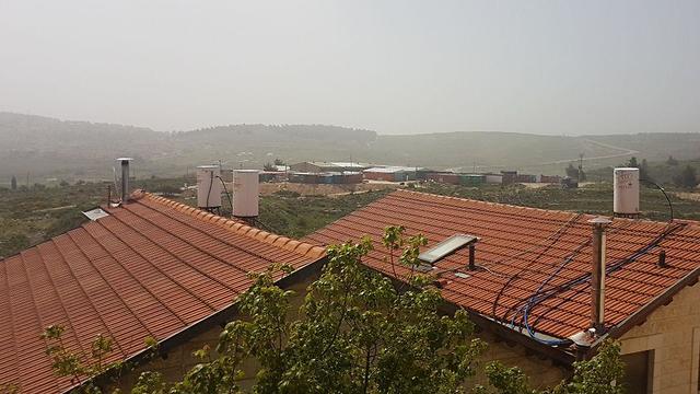 אובך ירושלים (צילום: משה מזרחי)