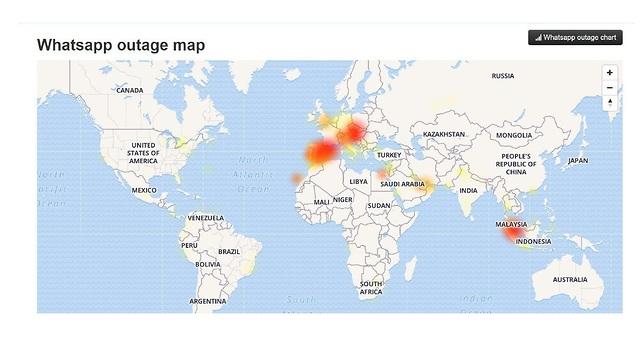 Карта отключений Whatsapp