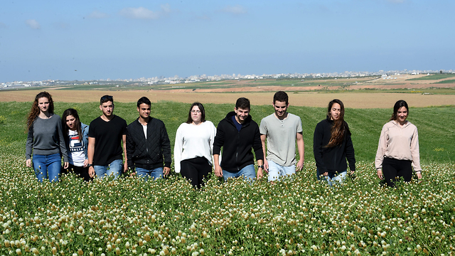Teens who have lived under fire their entire lives (Photo: Haim Horenstein)
