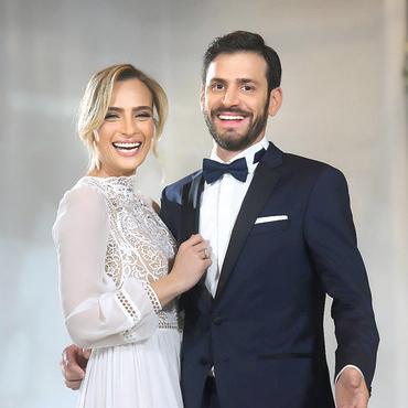 אלירז ואילנית ביום חתונתם