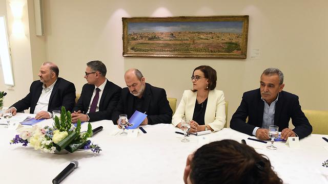 נשיא עם המדינה בפגישה עם נציגי סיעת רע