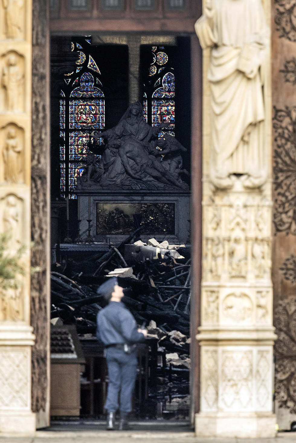 Notre Dame Cathedral damaged by the blaze (Photo: Getty Images)