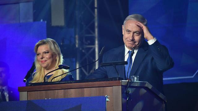 בנימין נתניהו ורעייתו שרה (צילום: יואב דודקביץ)