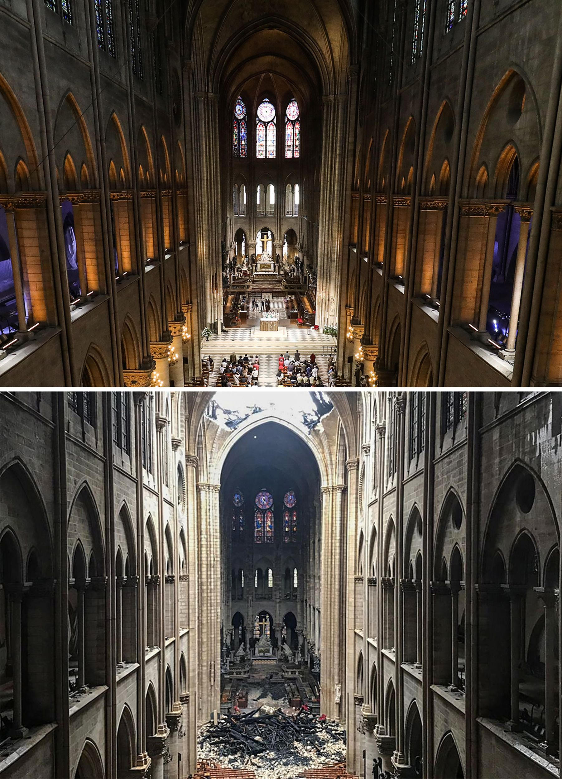 Notre Dame: Before and after