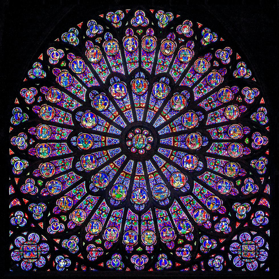 חלונות רוזטה  בכנסיית נוטרדאם ()