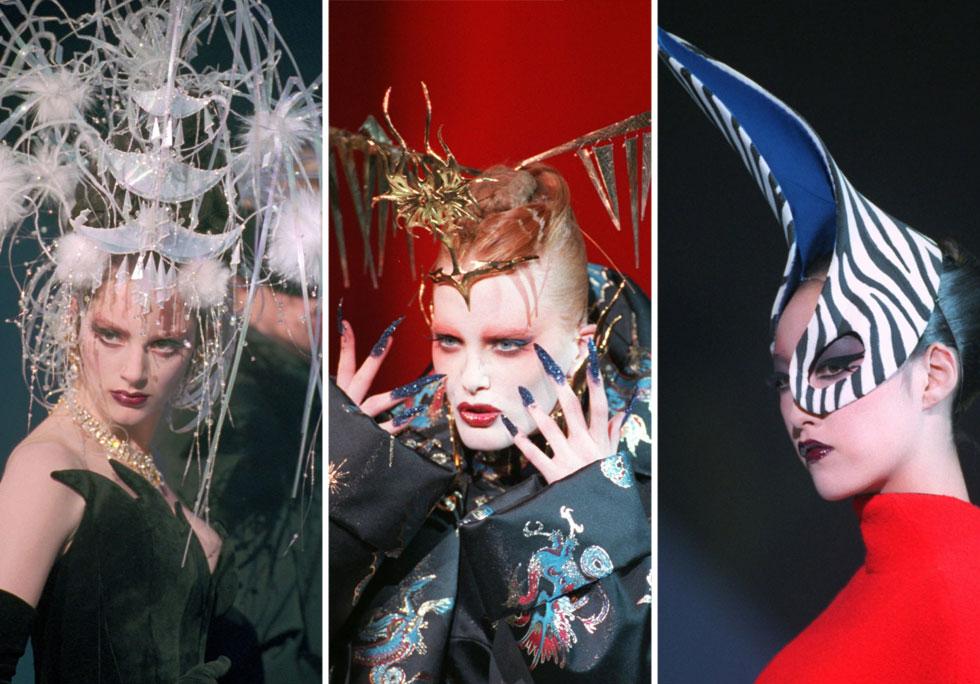 """""""הגעתי לאופנה כי רציתי לעשות מופעים, ואופנה היתה האמצעי שלי"""". תצוגת ההוט קוטור לסתיו-חורף 1997-98 (צילום: AP)"""
