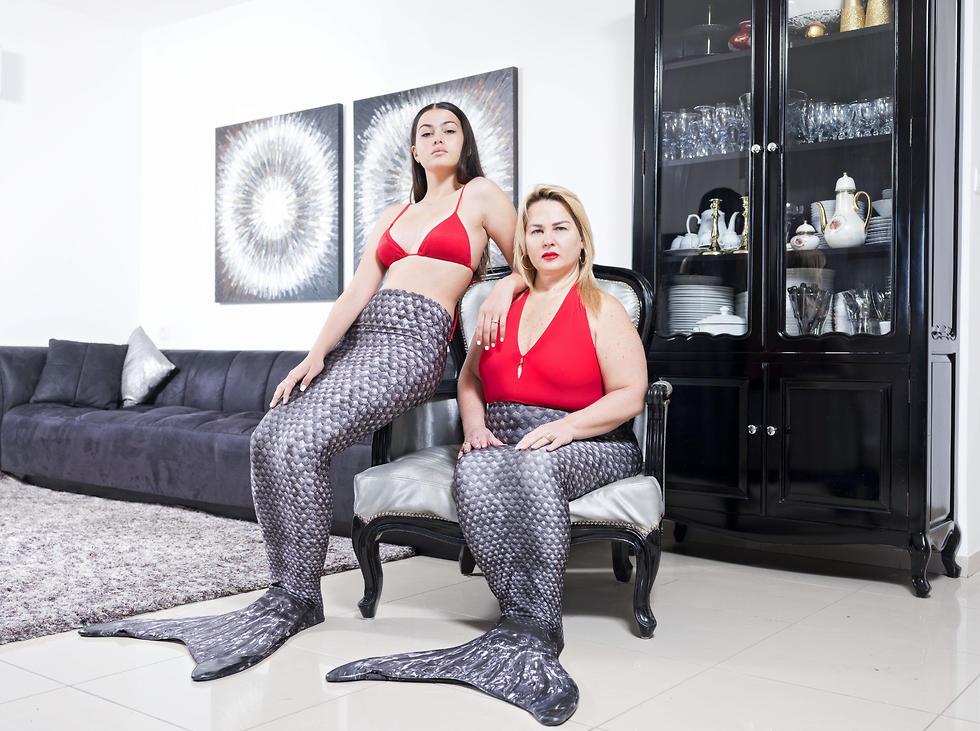 Limor Kahlon, right, and her daughter Yam, Netanya