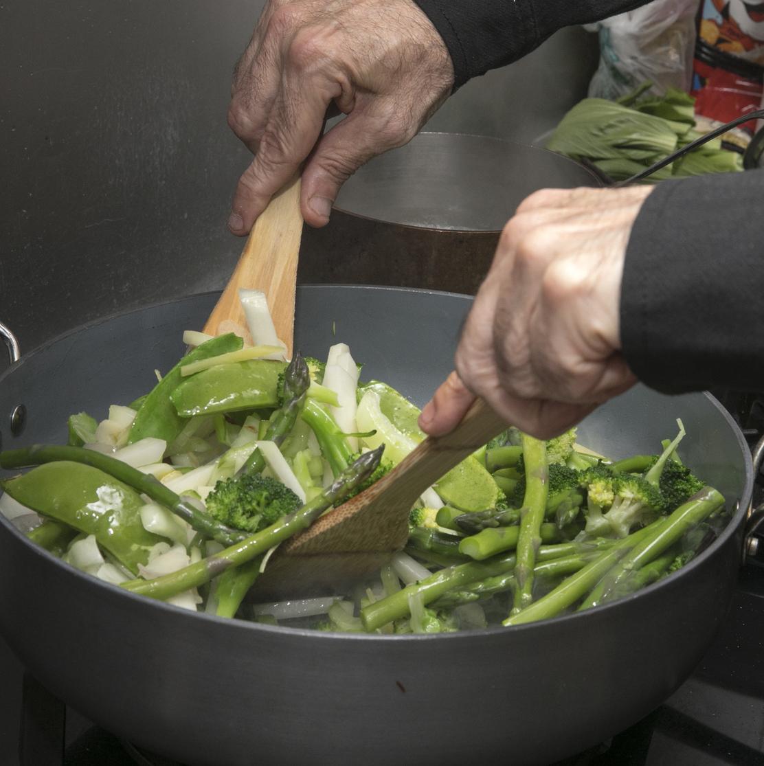 תבשיל ירקות ירוקים