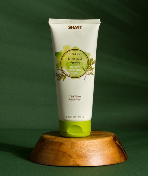 סבון פנים עץ התה שביט - סבון פנים טיפולי לניקוי עור בעייתי, עור שמן ומעורב (צילום: דרור עינב)