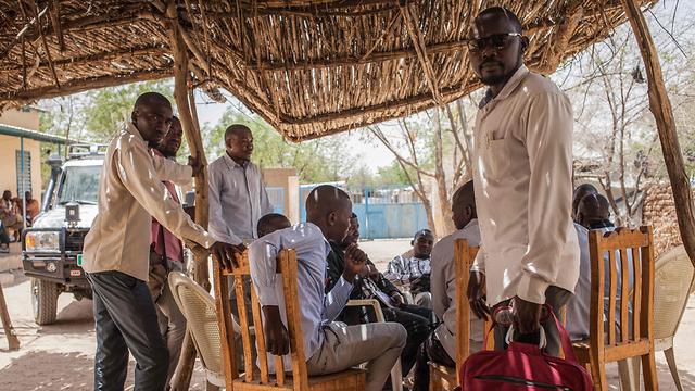 צ'אד מחנה פליטים של תושבים מ דרפור סודן (צילום: AFP)