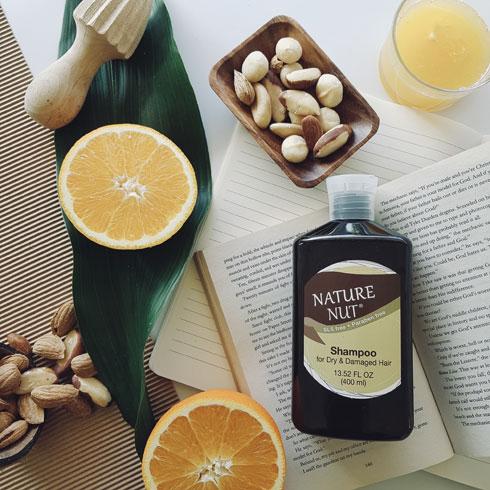שמפו היפואלרגני מסדרת Nature Nut (צילום: לירין חסון)