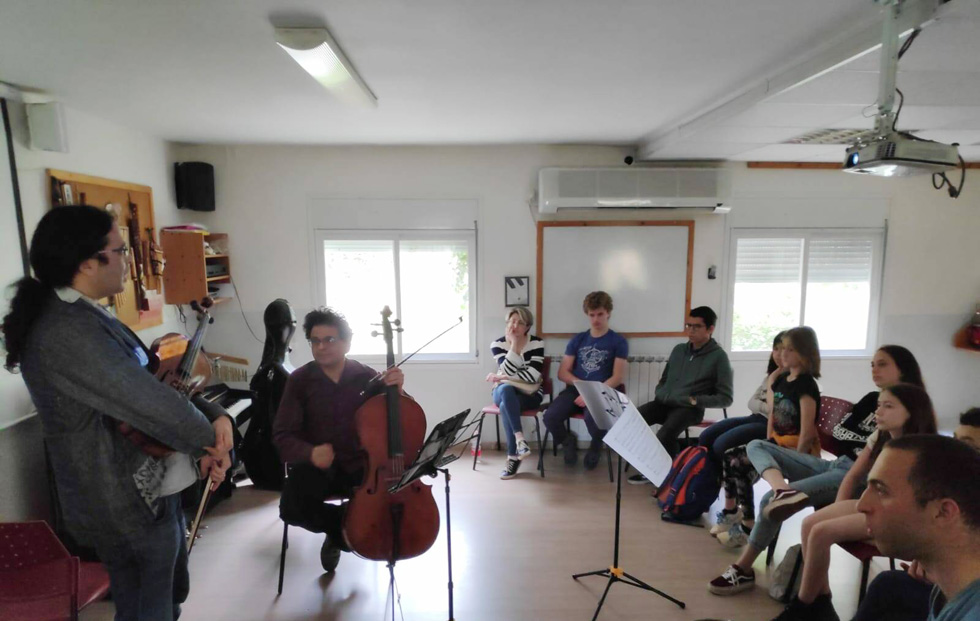 Семинар юных композиторов в кибуце Саса