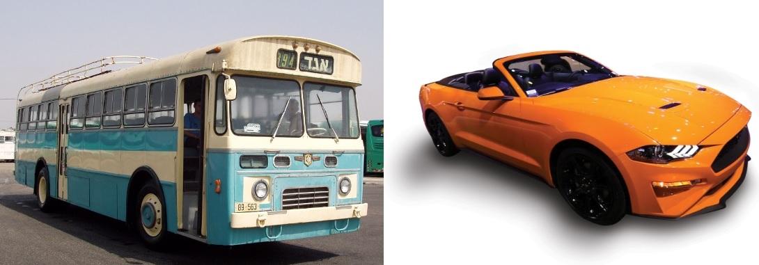Автобус-кастрюля и мощный Ferrari: две автомобильные выставки в дни Песаха