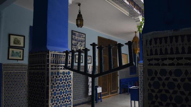 A menorah at Lazama Synagogue in Marrakech