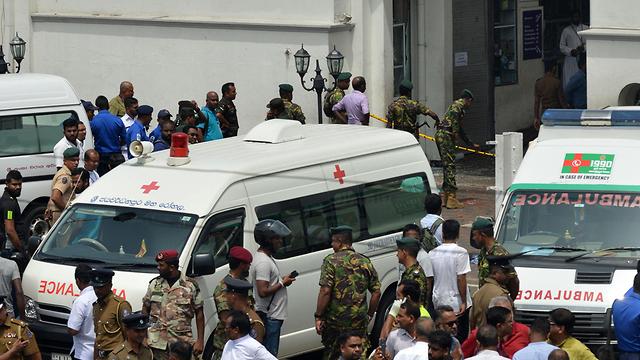 פיצוץ בסרי לנקה קולובו (צילום: AFP)