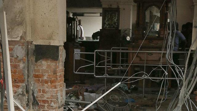 פיצוץ בסרי לנקה קולובו (צילום: EPA)