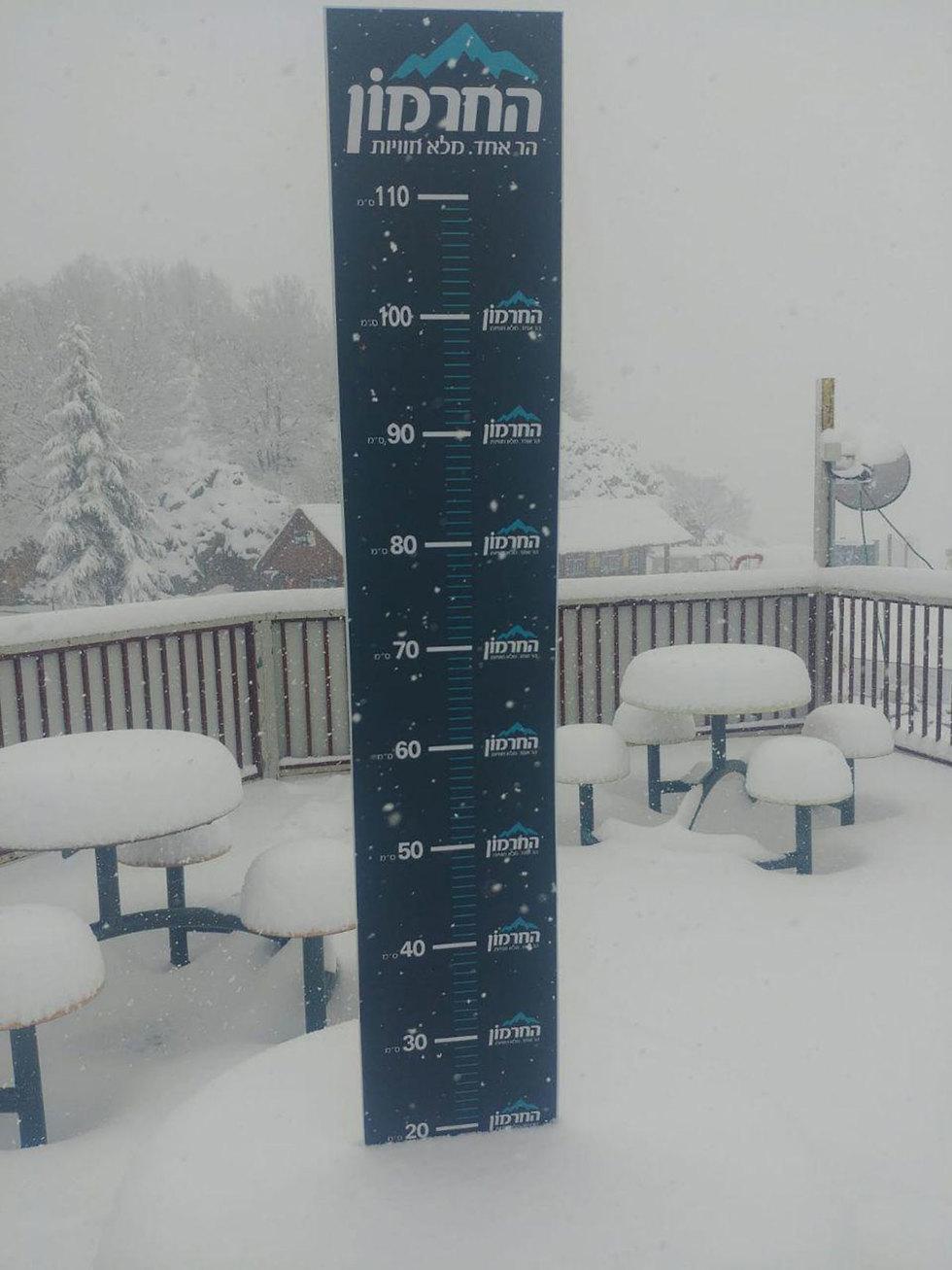 Уровень снежного покрова. Фото: пресс-служба Хермона