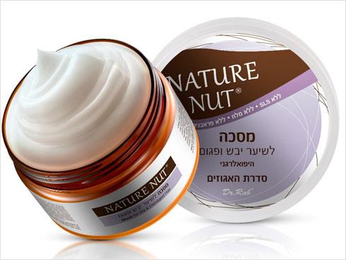 המסכה של Nature Nut לשיער יבש ופגום (צילום: מלנית)
