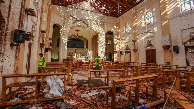 סרי לנקה מתקפת טרור כנסיית סן סבסטיאן (צילום: AP)