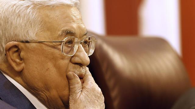 Mahmoud Abbas attends an Arab League summit in Cairo