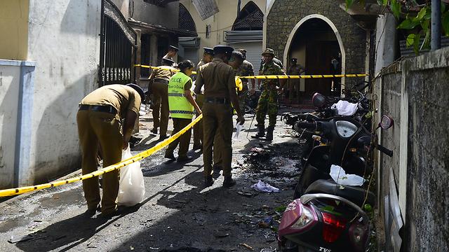 כנסיית ציון טבח סרי לנקה פיגוע פיגועים (צילום: AFP)