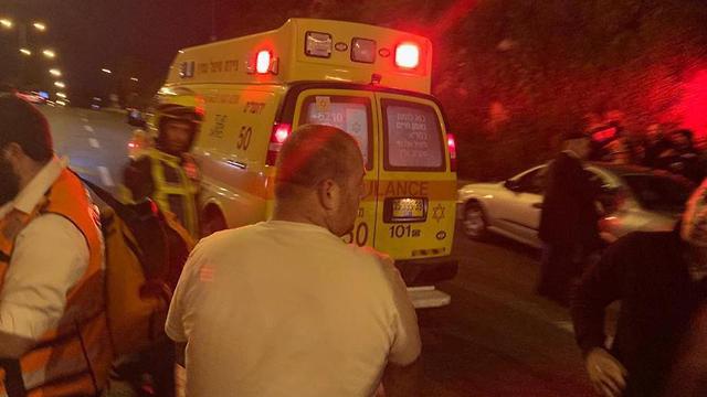 זירת תאונת הדרכים ברמות (צילום: תיעוד מבצעי מד