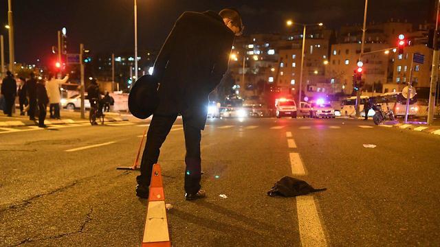 זירת תאונת הדרכים ברמות (צילום: רפי קוץ)