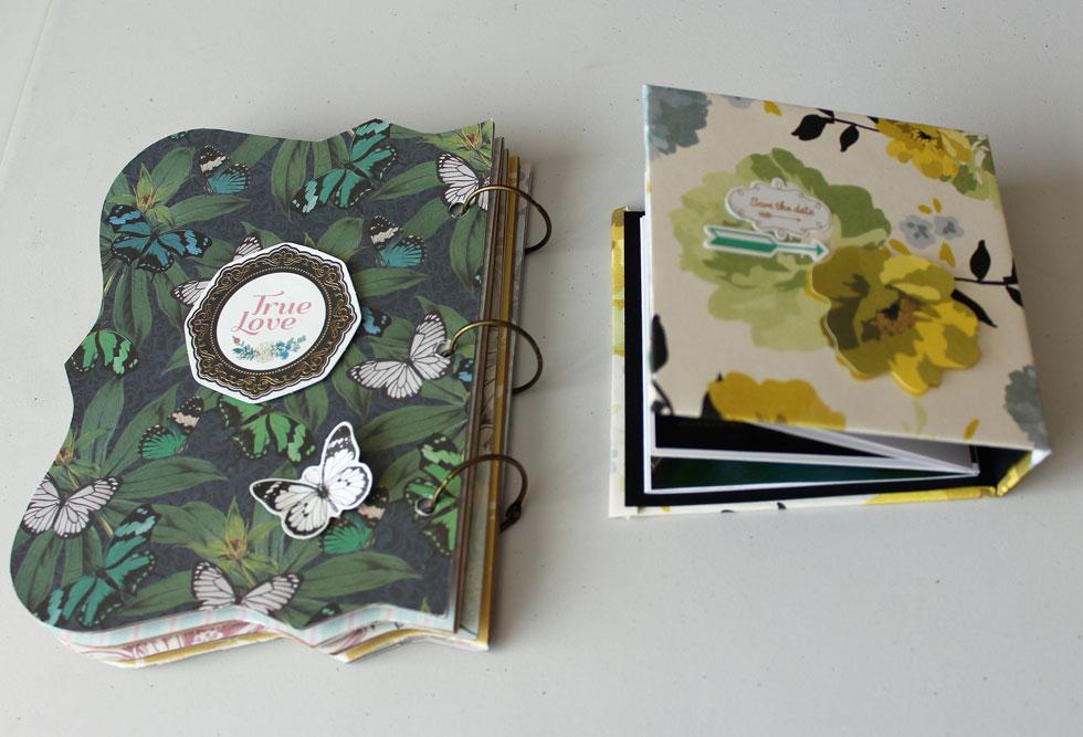 אלבום פולדר ואלבום טבעות (צילום: ברכה-לנד עיצוב בנייר)
