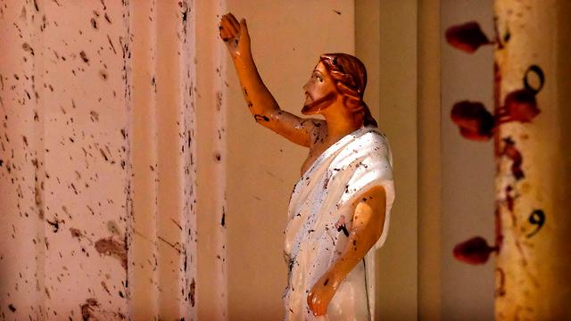 סרי לנקה מתקפת טרור פיגועים כנסיית סנט סבסטיאן נגומבו (צילום: AP)