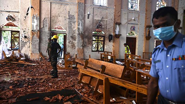 סרי לנקה מתקפת טרור פיגועים כנסיית סנט סבסטיאן נגומבו (צילום: AFP)