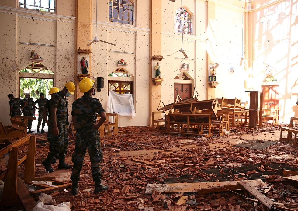 סרי לנקה מתקפת טרור פיגועים כנסיית סנט סבסטיאן נגומבו (צילום: רויטרס)