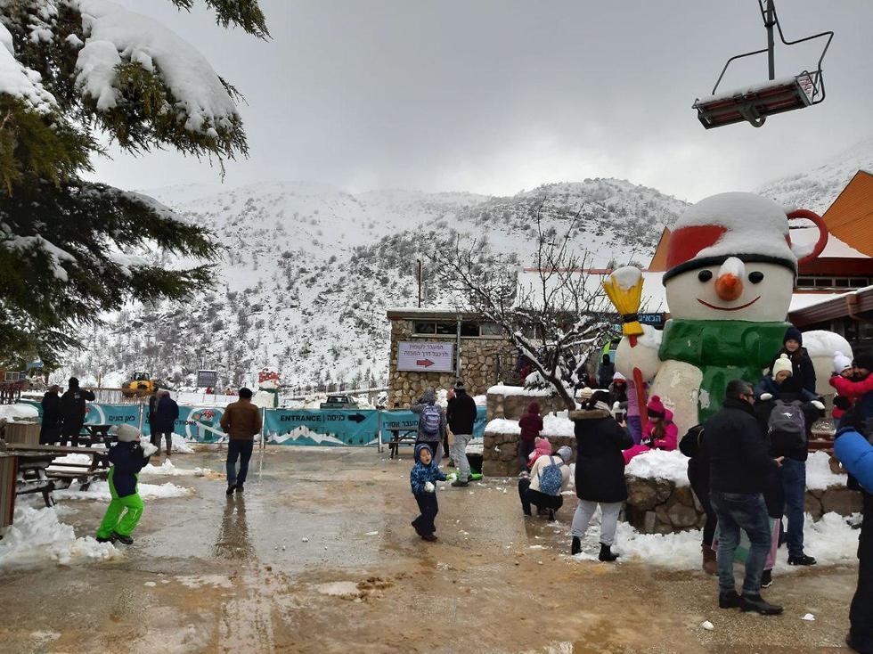 Апрельский снегопад на Хермоне. Фото: TPS