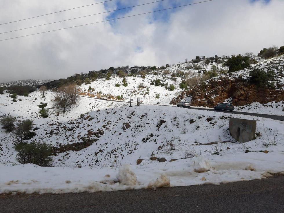Снег на Хермоне. Фото: TPS